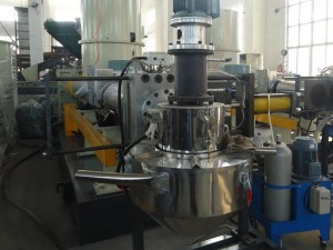 single degas extruder machine