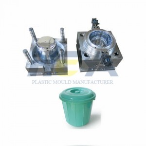 Factory wholesale Dining Table Injection Mould Tools - Green Bucket With Lid Mould – HEYA