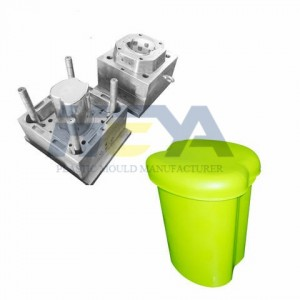 Lowest Price for Handle Basket Mould - Waste Contianer Injection Mould – HEYA