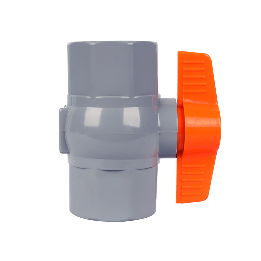 PVC octagonal ball valve yellow handle for Vietnam marketing