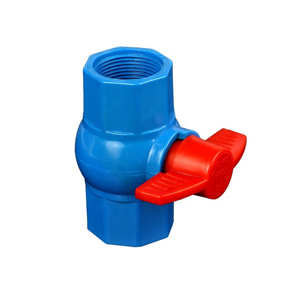 PVC octagonal ball valve blue body for Bangladesh marketing
