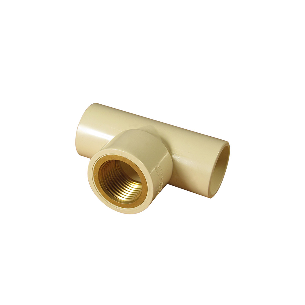 CPVC Fittings Tee with brass insert