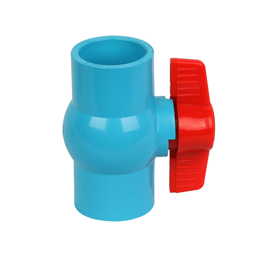 PVC compact ball valve blue body for Thailand marketing