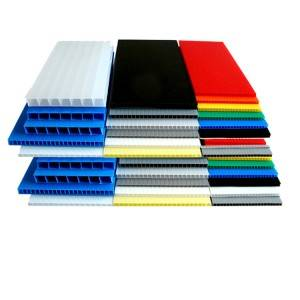 Hot sale China 4X8 Coroplast PP Hollow Corrugated Plastic Sheet