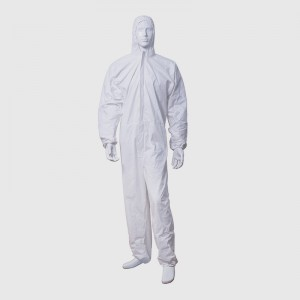 Disposable one-piece isolation gown