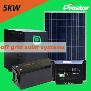 Prostar 5kw solar system with battery backup for air condition