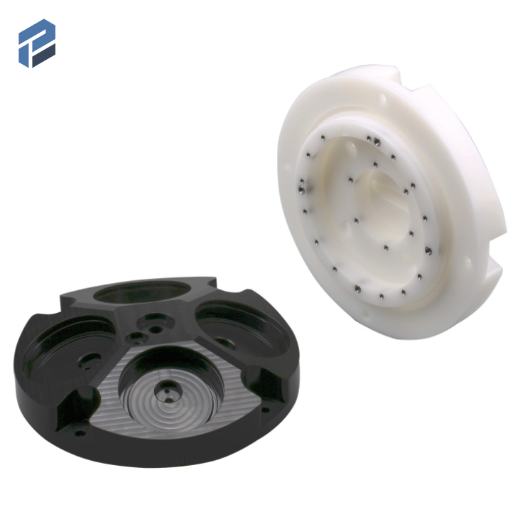 China plastic injection mold part for automatic with metal part inserted and CNC milling plastic part Featured Image