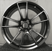 All kinds of size custom alloy wheels rim with five stars