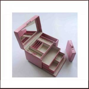 Promotional Pink Pu Leather Jewelry Packing Box