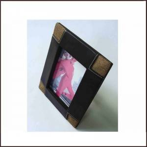 "Personized 5 ""x7″ Family or Office Pu photo Frame"