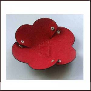 Genuine Leather Flower Shape Candy Organizer