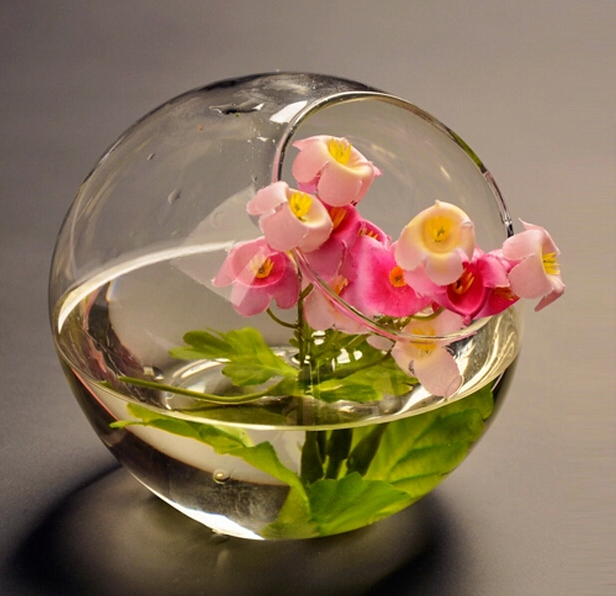 Hot sale clear glass vase Handmade Borosilicate Clear glass home Fish Bowl Tank