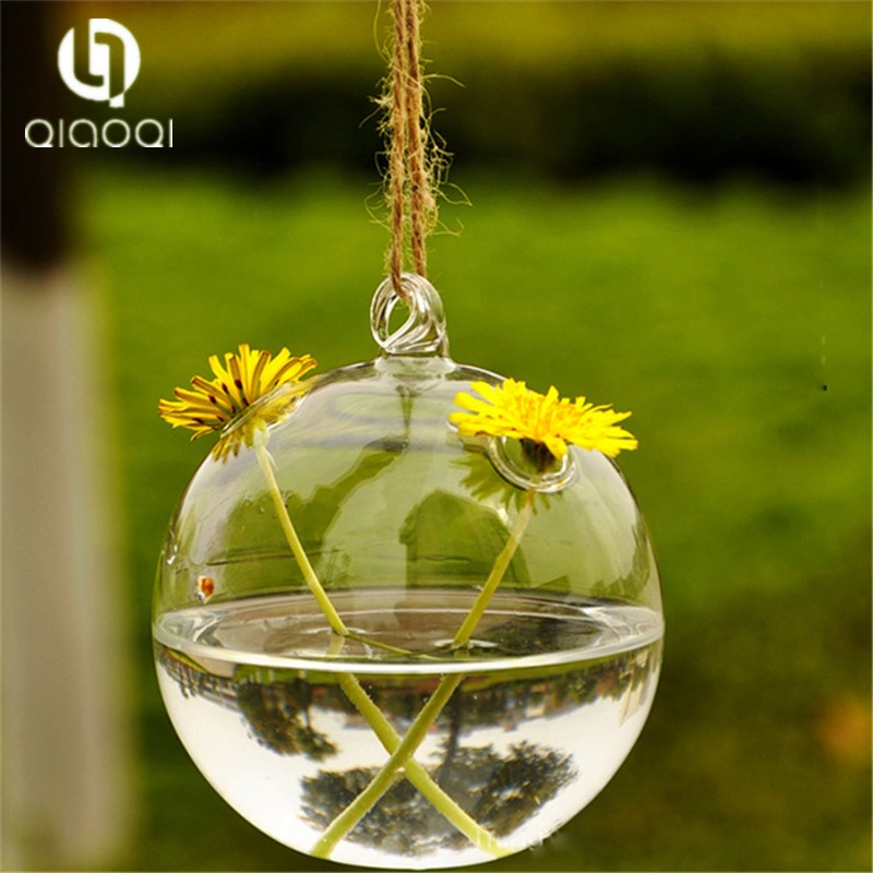 Unique light bulb shape glass terrarium with base suits