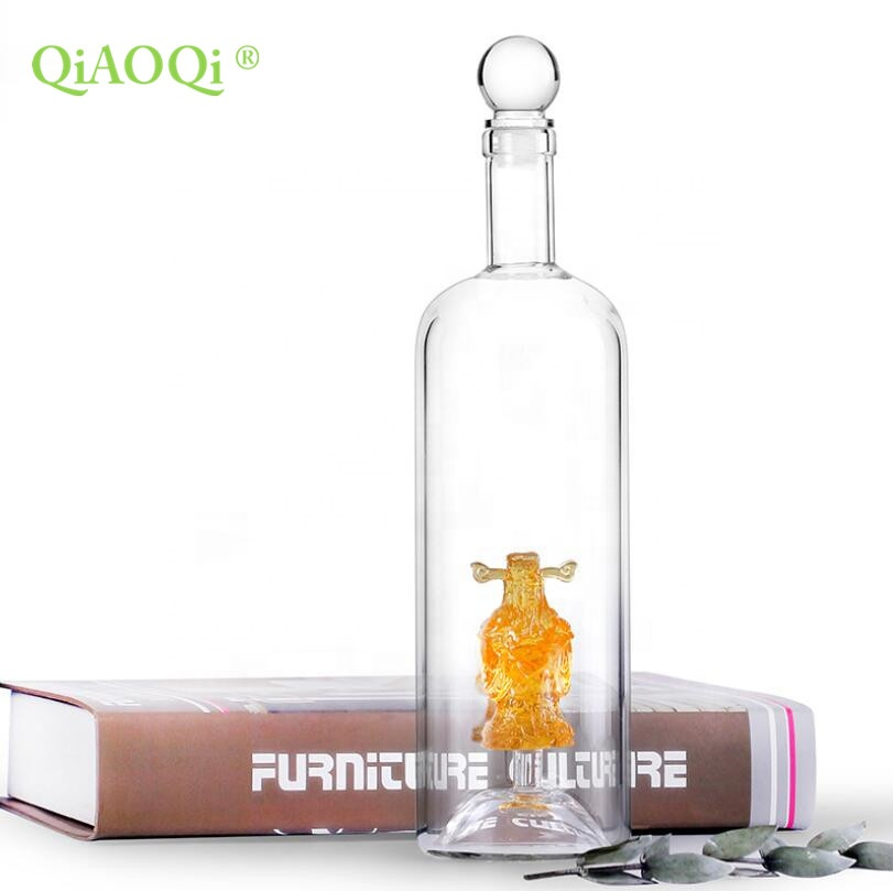 PriceList for Large Glass Coffee Mugs - 450ml hot sales high borosilicate china shape glass wine bottle – Qiaoqi