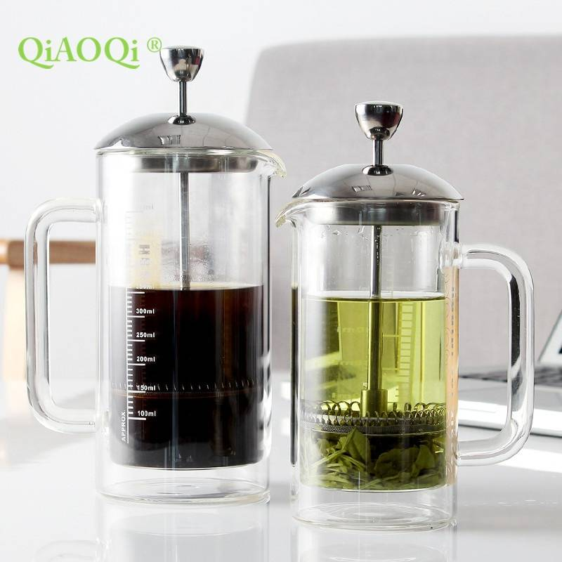 high borosilicate heat resiseant double wall french press coffee maker