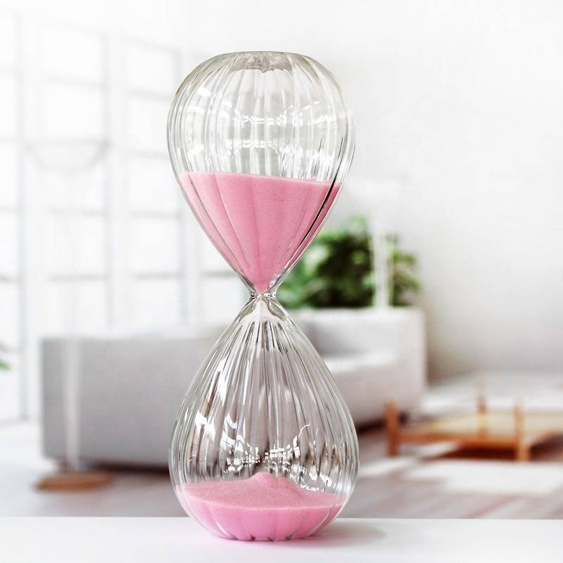 hand blow glass gift customized logo Magnetic hourglass sand timer