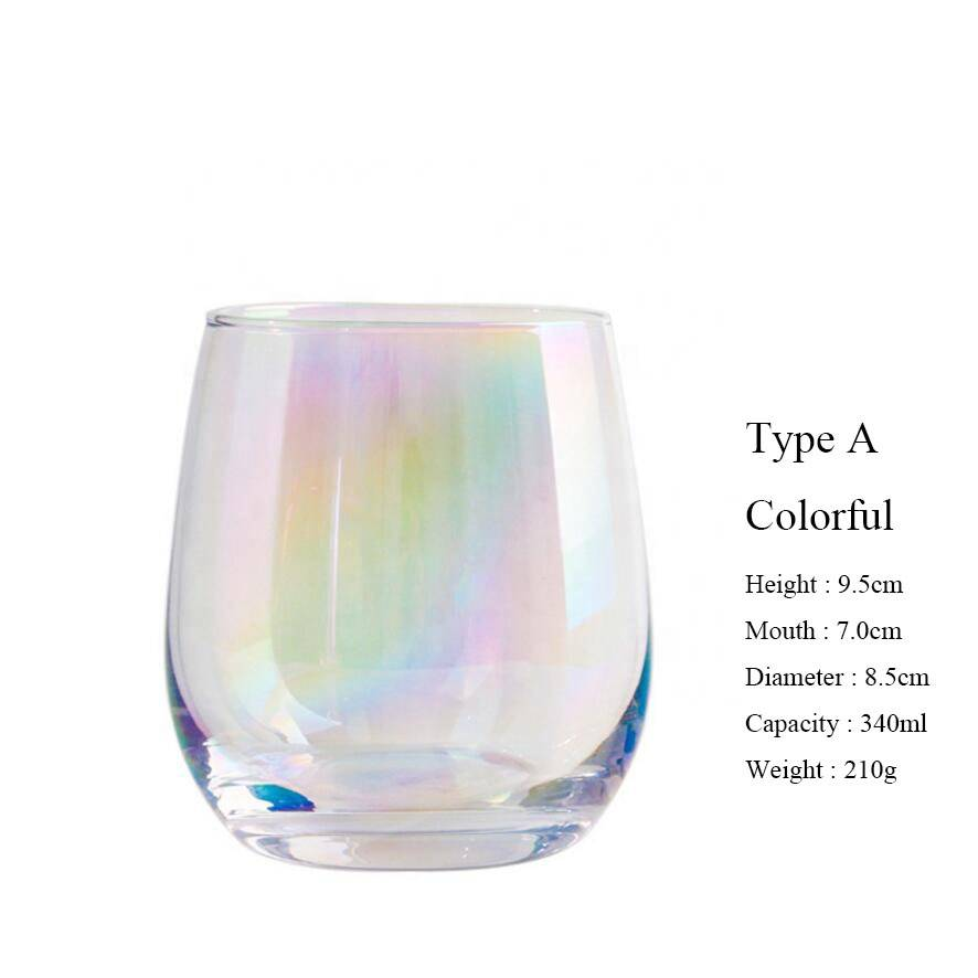 PriceList for Glass Teapot With Warmer Set - Crystal glassware egg shape drinking tumbler water glass cup with gold rim – Qiaoqi
