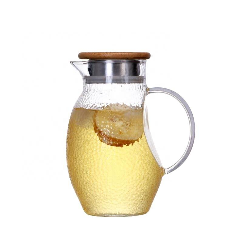 high quality 1300ml borosilicate drinking Cold Water Tea Glass tea pot