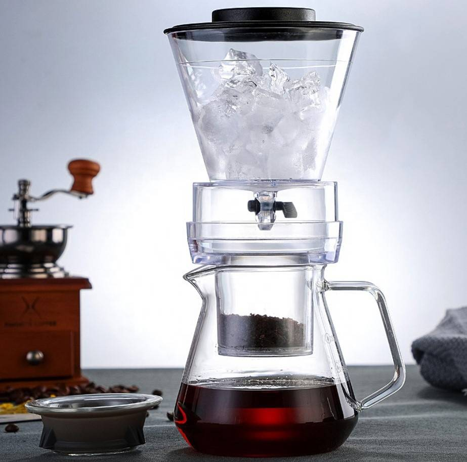 Hot sale glass chigh borosilicate clear cold glass coffee pot