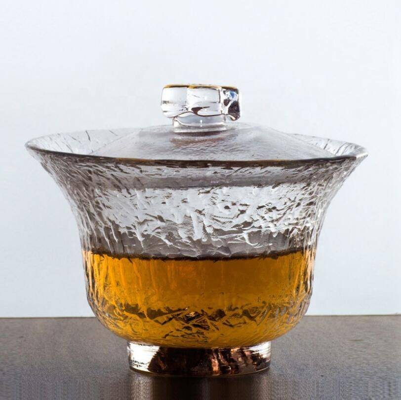 hot sales clear glass  tea bowl whit lid