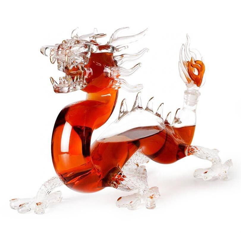 2019 new arrival Dragon shape glass wine bottle