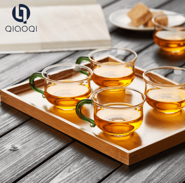 high borosilicate glass Heat resistant  tea cup with handle