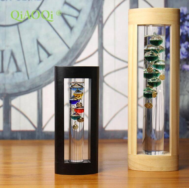 Hot sale Glass Mug With Handle - Household Desktop Glass Decoration Crafts Weather Forecast Predictor Bottle Galileo Thermometer – Qiaoqi