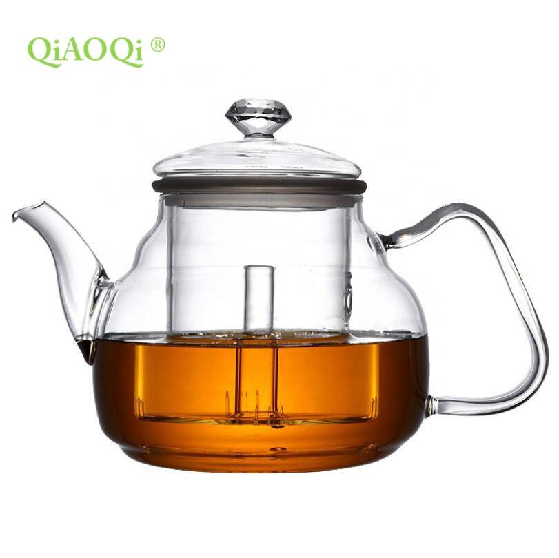 High quality glass teaware glass tea infuser glass teapot