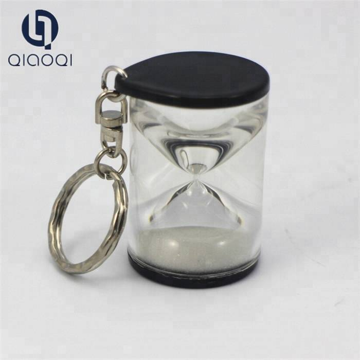 Acrylic key chain hourglass / Kids Toy Small Hourglass Plastic Sand Timer
