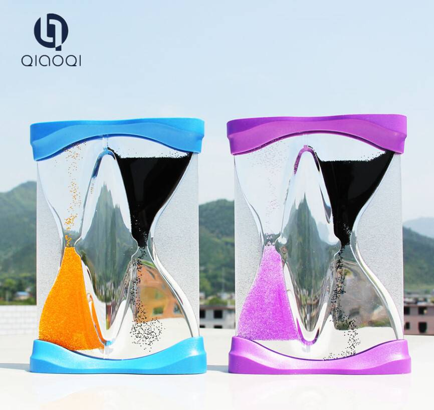 Double flow hourglass floating oil sand timer