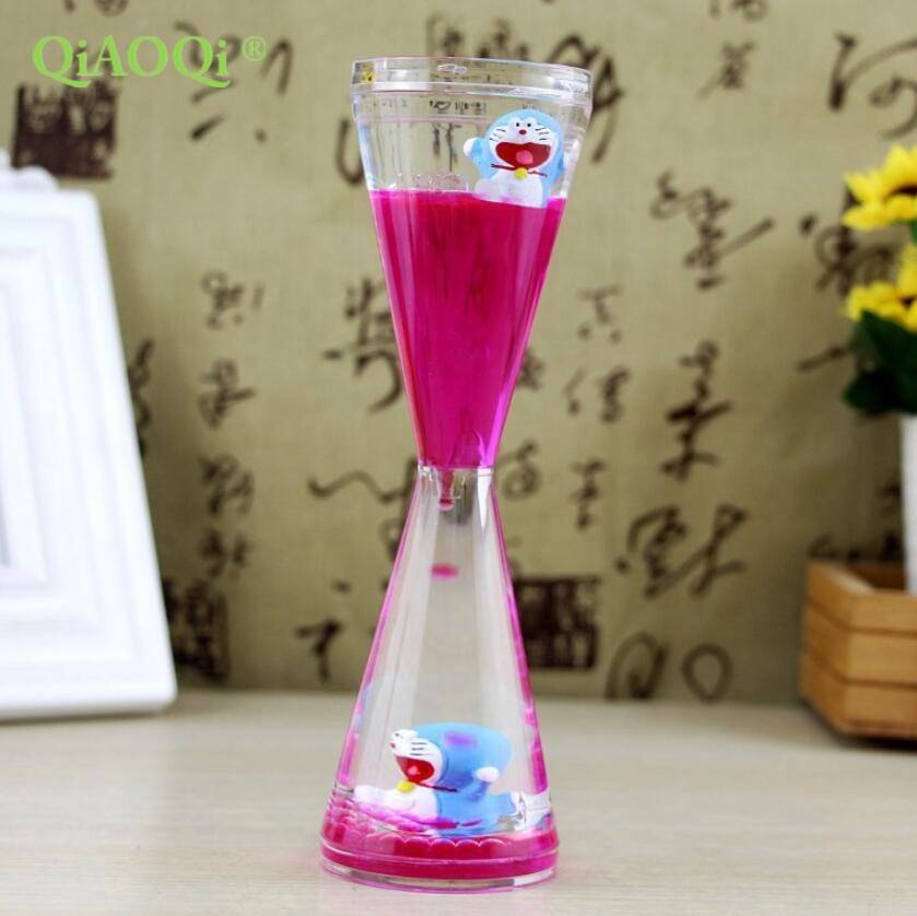 Promotional gifts Acrylic Hourglass Sand Timer floating liquid hourglass