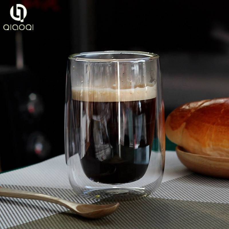 new design coffee beer double wall glass cup