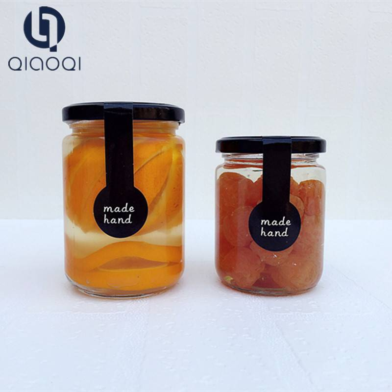 Round honey jam glass jars with lid cheap price