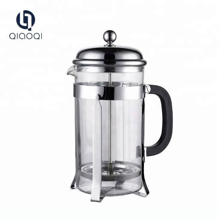 2018 Amazon 34OZ Best Selling Borosilicate glass stainless french coffee press Set 1000ML with 2 cups