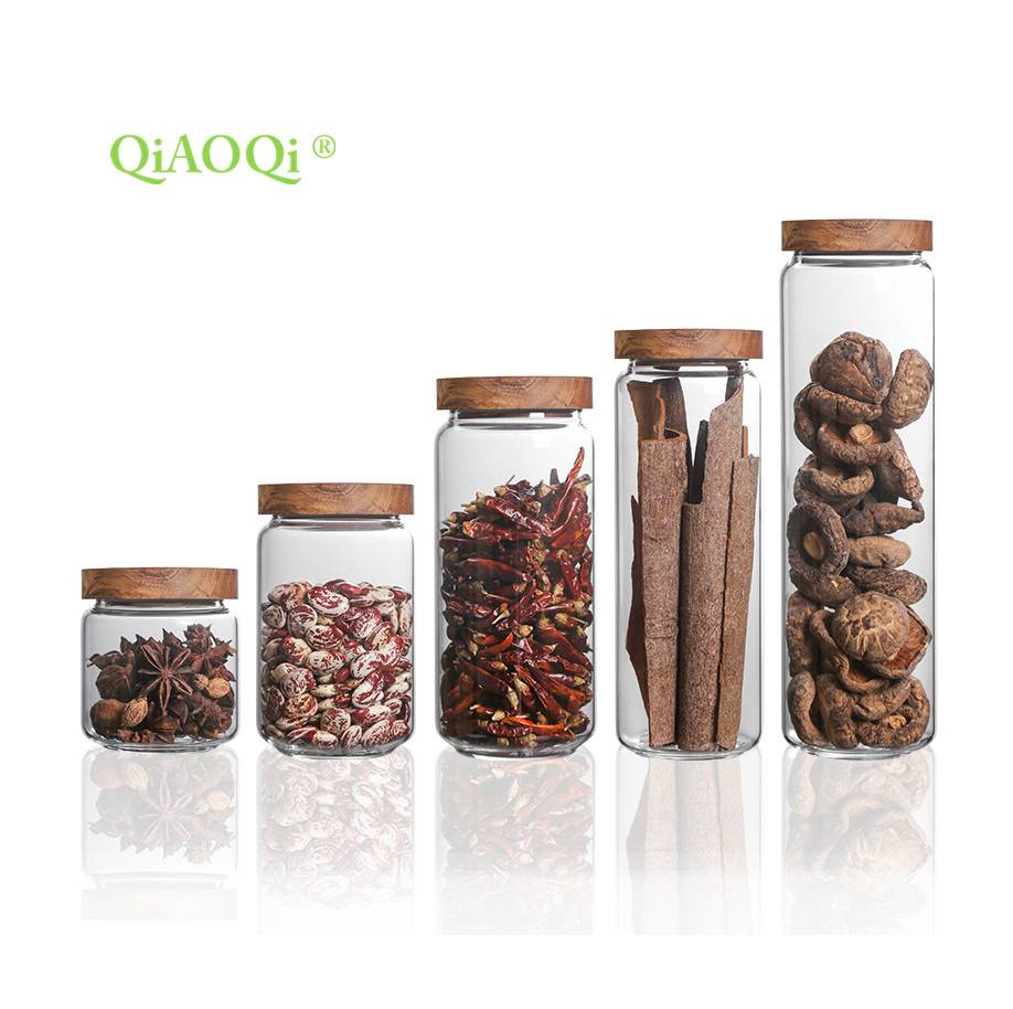 QiAOQi glass jar for food