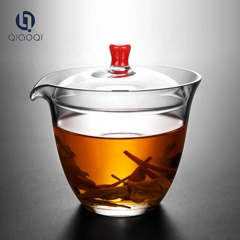 Hot sales Glass Tea Cup with Color Lid