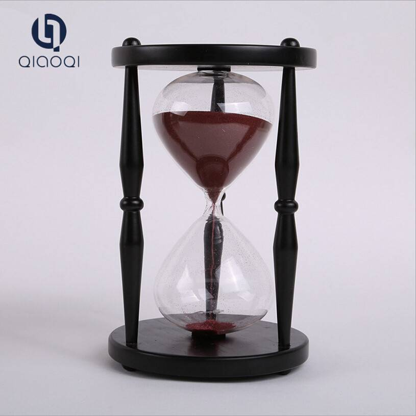 30 min wooden big hourglass for sale / wooden hourglass for decorate
