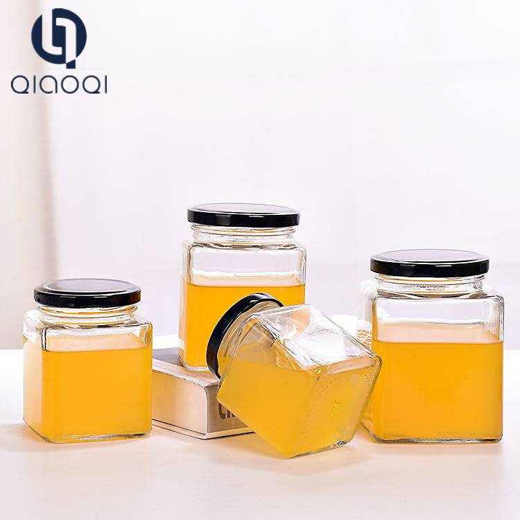Best Service Top Grade Square Bee Honey Bottle