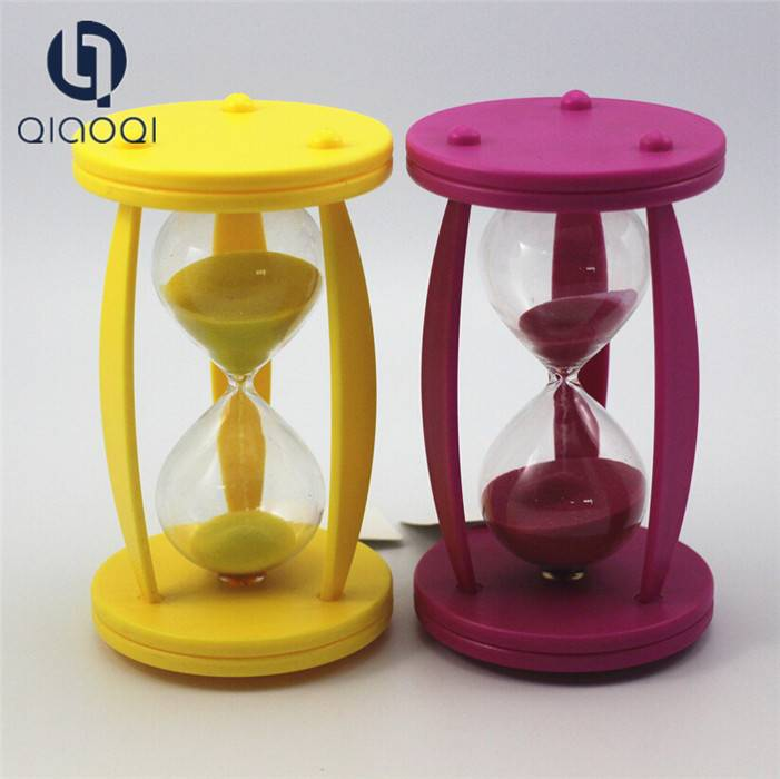 Colorful Plastic Kids Toys 1 hour Sand Timer Products for Birthdays