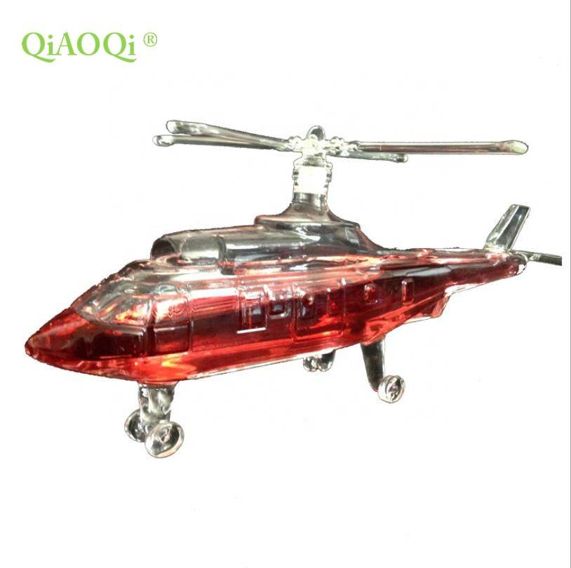 QiAOQi Borosilicate unique transparent decoration 750ml aircraft shaped whiskey glass bottle