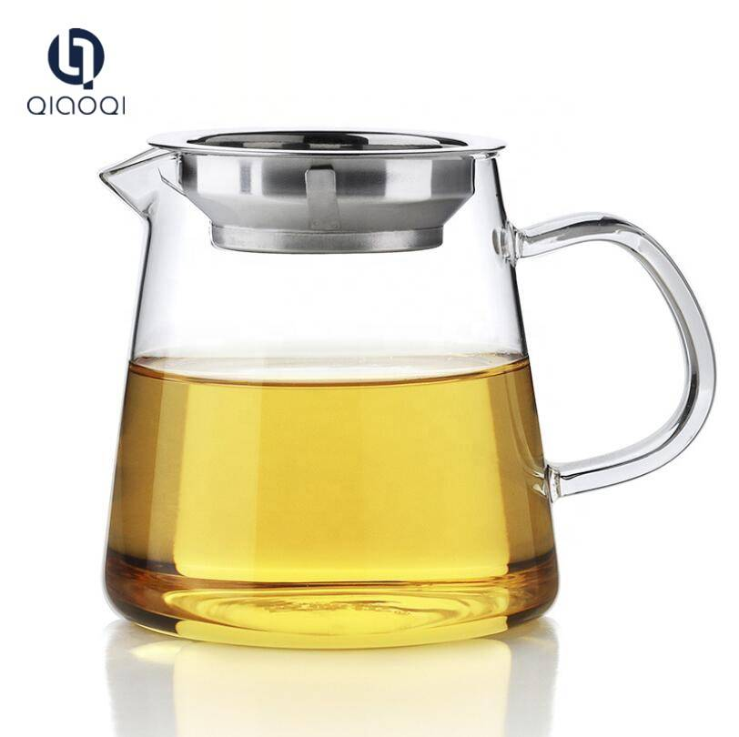 Large Glass Mug with Stainless Steel Filter