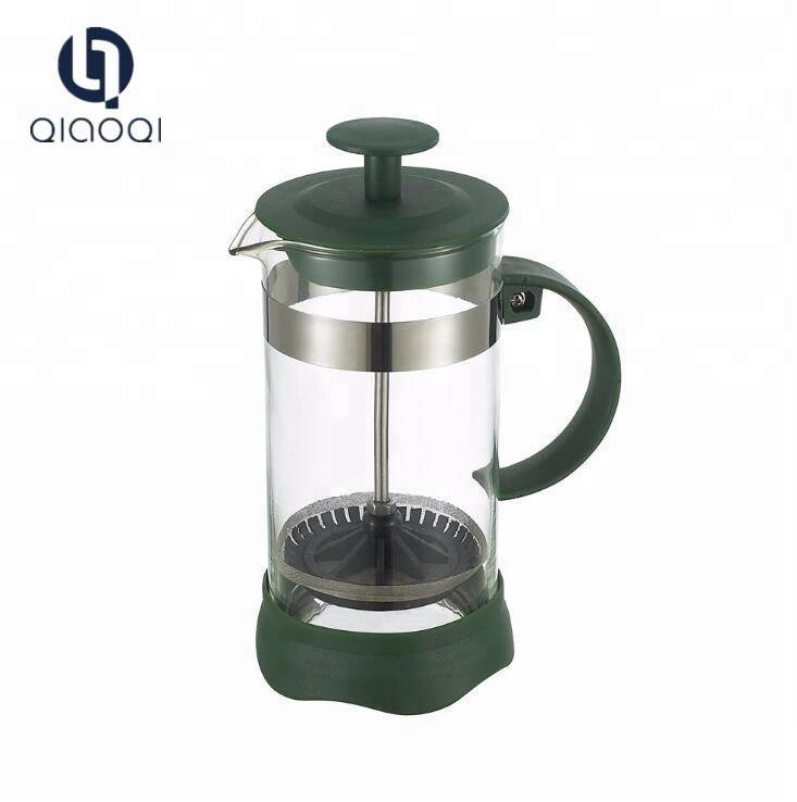 Hot sell 350ml french coffee press with borosilicate glass and stainless steel coffee plunger