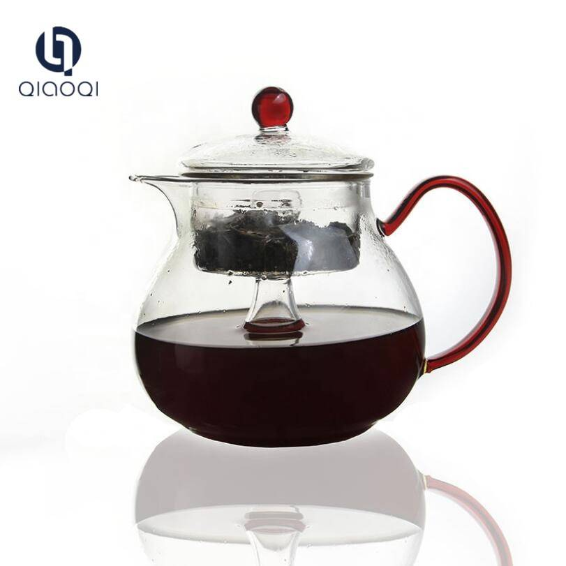 Factory wholesale Glass Mugs For Hot Drinks - QIAOQI Glass Filtering Tea Maker Teapot with a Warmer and 6 Tea Cups Set – Qiaoqi