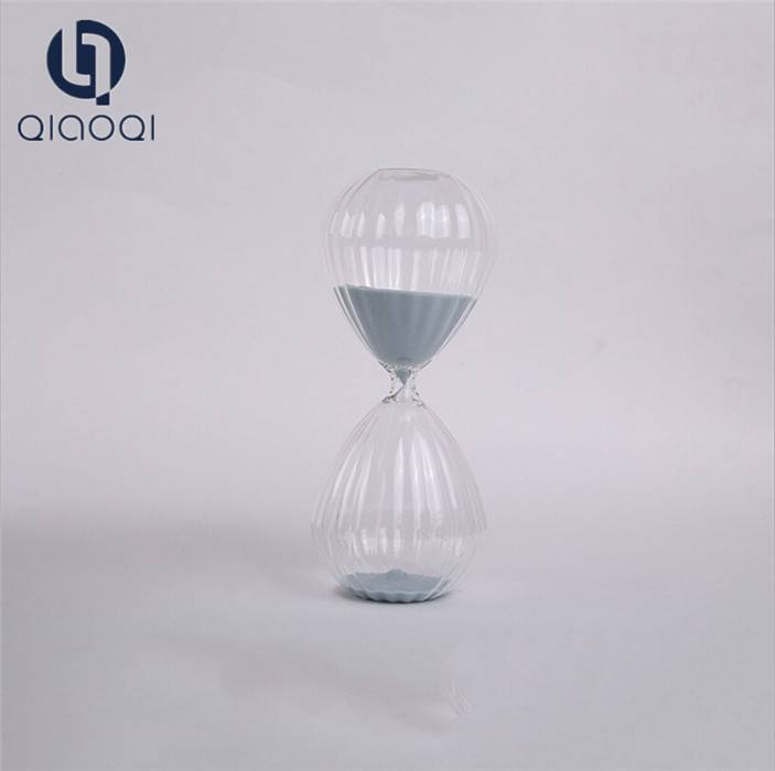 Transparent glass hourglass for home decoration direct selling