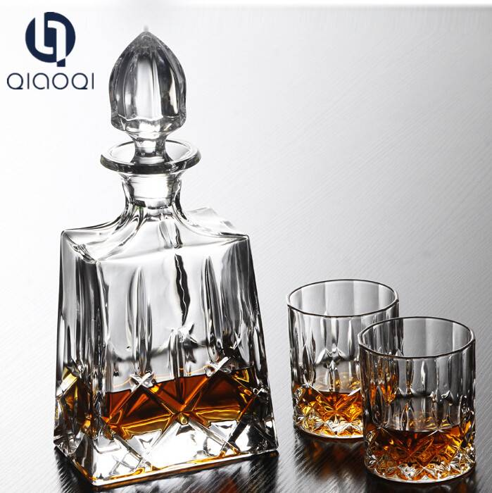 Hot Sell Crystal wine Decanter Whiskey Glass Decanter Set