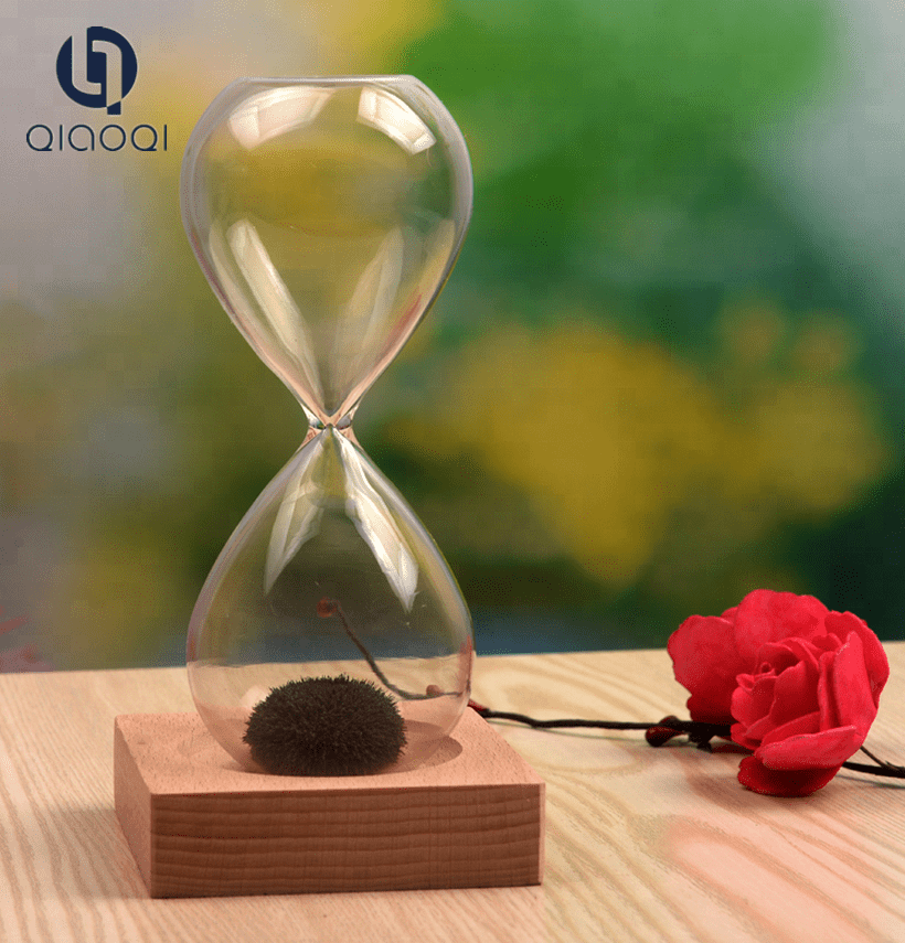 Handmade Craft Glass Gift Magnetic Hourglass Sand Timer Sand Clock