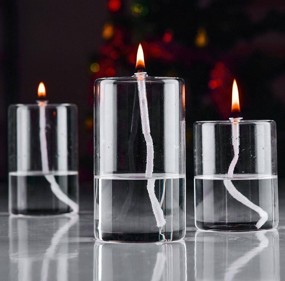 Hot Heat Sale Cylindrical Glass Candlestick for Wedding Centerpieces Glass Candle Holder