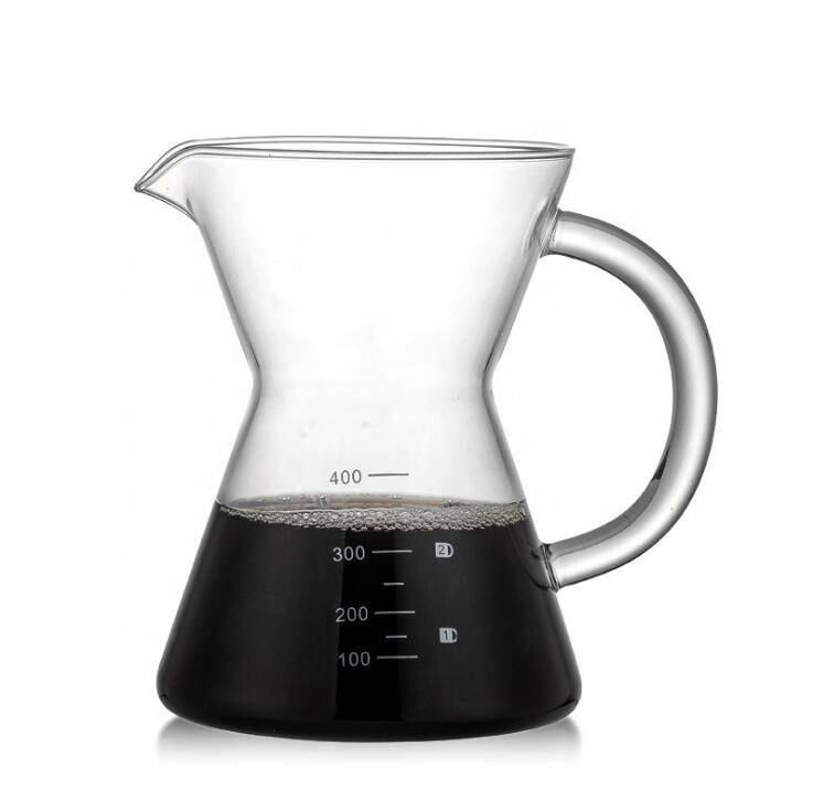 Heat Resistant Glass Coffee Pot Borosilicate Pour Over Coffee Maker With Handle