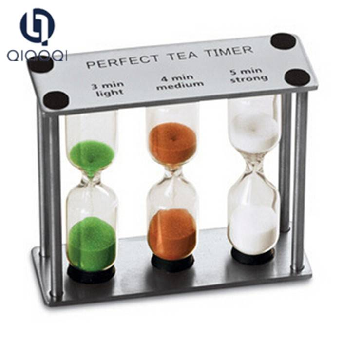 Wholesale Craft Gift Metal Clock 3 in 1 Hourglass Sand Timer Sand Clock