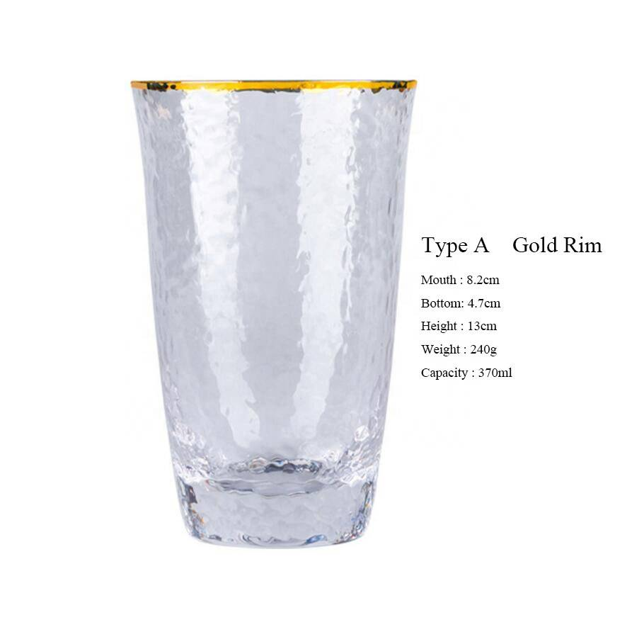 Wholesale With Gold Rim Wine Glass Cup For Wedding Glassware Set Champagne Glass